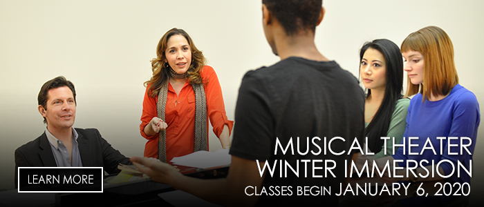 musical theater winter immersion classes start January 6, 2020
